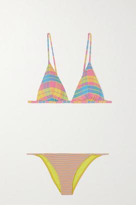ACK Printed Triangle Bikini - Blush