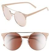 BP Women's 55Mm Enameled Sunglasses - Nude/ Gold