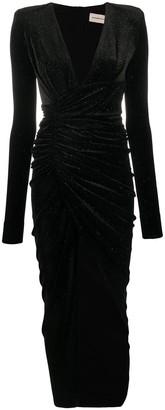 Alexandre Vauthier Shimmer Velvet Dress
