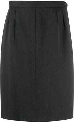 Saint Laurent Pre-Owned 1980's straight skirt