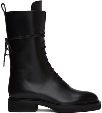 KHAITE Black The Lace up Combat Boots