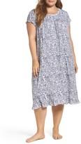 Eileen West Plus Size Women's Waltz Nightgown