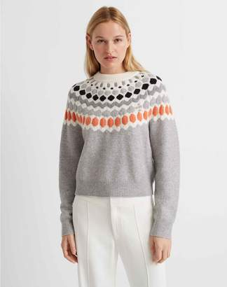 Club Monaco Fair Isle Crewneck Sweater