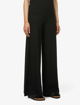 Frenckenberger Wide-leg mid-rise cashmere trousers