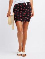 Charlotte Russe Cherry Print Bodycon Skirt
