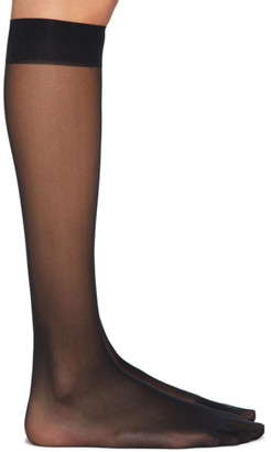 Wolford Black Individual 10 Knee-High Socks