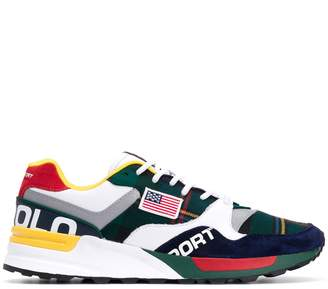 Polo Ralph Lauren contrast patch colour block sneakers