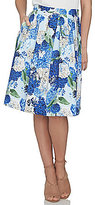 CeCe Hydrangea Bouquet A-Line Gathered Skirt