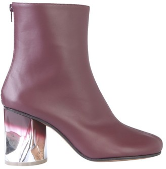 Maison Margiela Contrast Heel Ankle Boots