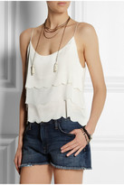 Kate Moss for Topshop Scalloped satin and chiffon camisole