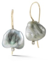 Mizuki Women's Pearl & Diamond Drop Earrings