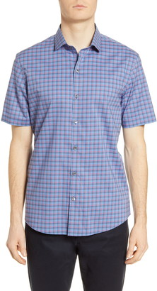 Zachary Prell Swanson Classic Fit Check Short Sleeve Button-Up Shirt