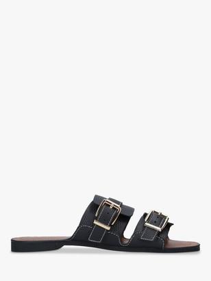 Kurt Geiger Oslo Buckle Detail Leather Sandals