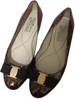 Salvatore Ferragamo Leopard print Leather Flats