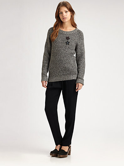 Maison Scotch Sequin Knit Pullover