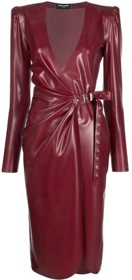 Saint Laurent Latex Wrap Dress