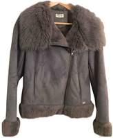 Pinko Grey Faux fur Jacket for Women