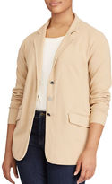 Lauren Ralph Lauren Plus Cotton-Blend Front-Button Jacket
