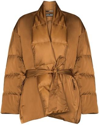 Holden Tie-waist quilted jacket