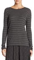 Vince Double Stripe Crewneck Sweater