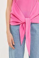 Boutique Silk knot front vest