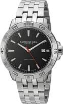 Raymond Weil Men's 'Tango' Swiss Quartz Stainless Steel Casual Watch, Color:-Toned (Model: 8160-ST2-20001)