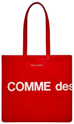 Comme des Garcons Huge Logo Leather Tote