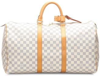 Louis Vuitton 2008 pre-owned Damier Azur Keepall bag