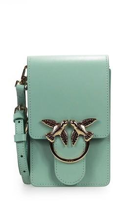 Pinko Love Smart Simply Aqua Green Crossbody Bag