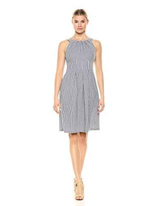 Nine West Women's Halter Neck Fit & Flare Dress