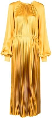 Oscar de la Renta pleated maxi dress