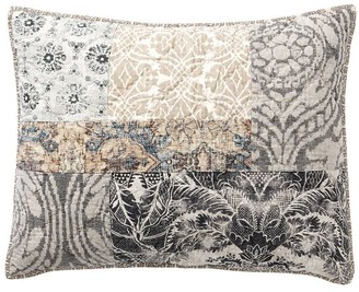 Pottery Barn Tessa Handcrafted Linen/Cotton Patchwork Quilted Shams