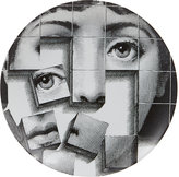 "Fornasetti Puzzle Pieces Face"" Plate"