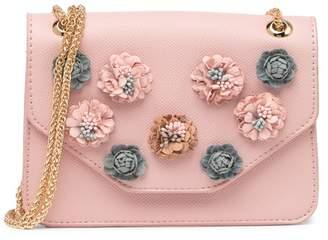 Urban Expressions Vegan Leather Floral Crossbody Bag