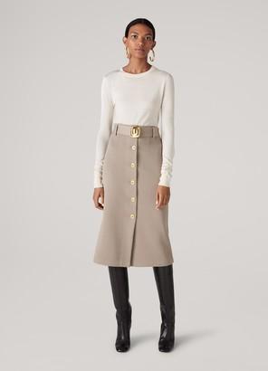St. John Fine Wool Ottoman Knit Skirt