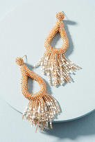 Anthropologie Jasmine Fringe Drop Earrings