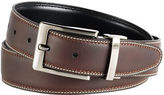 Black Brown 1826 Reversible Stitched Leather Belt