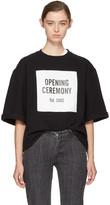 Opening Ceremony Black Short Sleeve Logo Sweatshirt