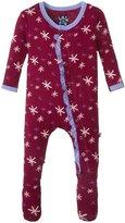 Kickee Pants Print Ruffle Footie (Baby) - Melody Snow - Newborn