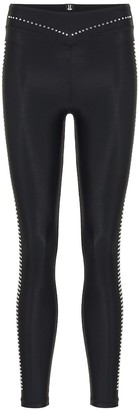 Adam Selman Plunge studded leggings