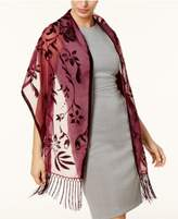 INC International Concepts I.N.C. Floral Scroll Evening Wrap, Created for Macy's