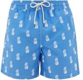 Polo Ralph Lauren Pineapple-print Logo-embroidered Swim Shorts - Mens - Blue Multi