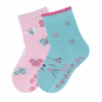 Sterntaler Baby Girls' Chaussettes AntidArapantes Dp Chat+papillon Calf Socks