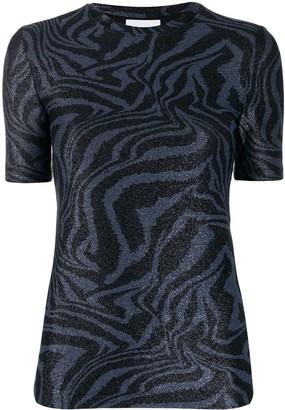 Ganni tiger swirl print T-shirt