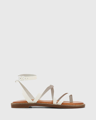Wittner - Women's White Sandals - Cavani Leather Flat Sandals - Size One Size, 37 at The Iconic