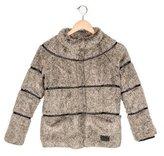 Ikks Girls' Textured Stand Collar Jacket