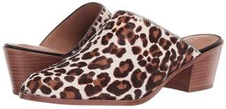 Trask Teresa (White Leopard) Women's Clog/Mule Shoes