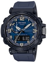 Casio Men's Pro Trek Triple Sensor Blue Silicone Strap Watch