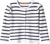 Joe Fresh Toddler Girls' Stripe Cardigan, White (Size 2)