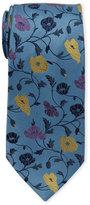 Duchamp Woven Floral Silk Tie
